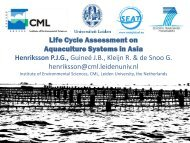 Life Cycle Assessment on Aquaculture Systems in ... - SEAT Global
