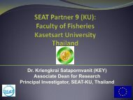 Dr. Kriengkrai Satapornvanit (KEY) Associate Dean ... - SEAT Global