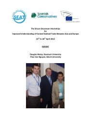The Struan Stevenson Internships for Improved ... - SEAT Global