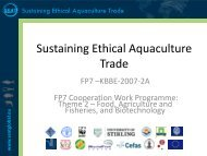 Sustaining Ethical Aquaculture Trade - SEAT Global