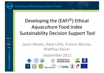 Developing the (EAFI©) Ethical Aquaculture Food ... - SEAT Global