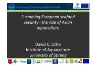 the role of Asian l aquaculture David C. Little Institute of Aquaculture ...