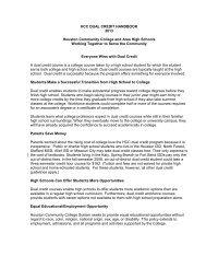 Dual Credit Handbook - Houston Community College System
