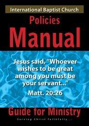 Church Policy Manual - Lorin