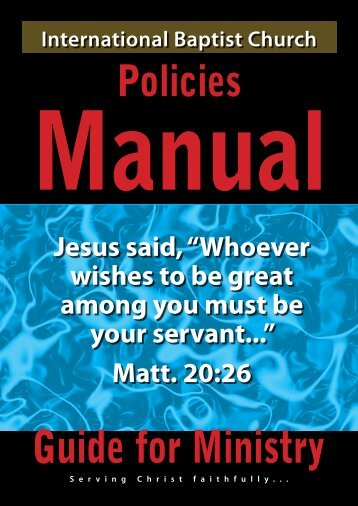Church Policy Manual - Lorin