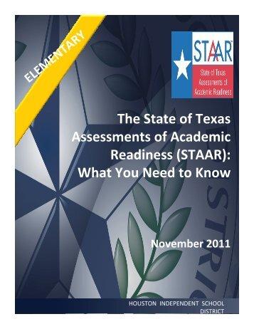 STAAR - HISD - Houston Independent School District