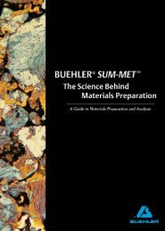 BUEHLER® SUM-MET™ The Science Behind Materials Preparation