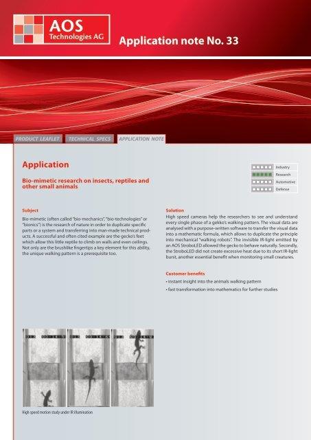 Application note No. 33 - AOS Technologies AG