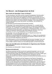 Der Mensch – das Krebsgeschwür der Erde - Enrev.de