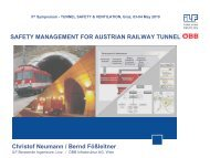 Safety Management for Austrian Railway Tunnels