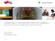 [ SAMPLING AT INTEGRATED TESTS IN TUNNELS ]