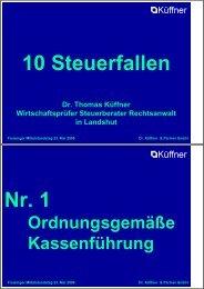 10 Steuerfallen Nr. 1 - Freisinger Mittelstandstag 2006