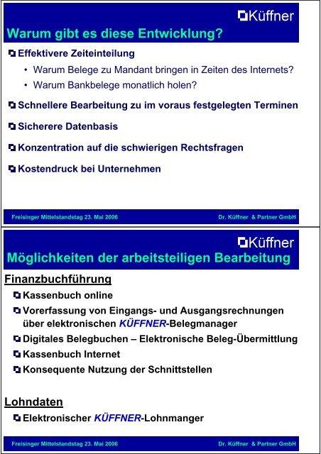 Kosten sparen durch arbeitsteilige IT-Buchführung - Freisinger ...