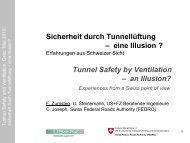 Sicherheit durch Tunnellüftung