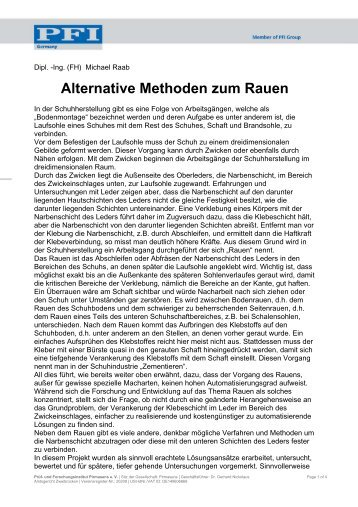 Bericht als PDF-Dokument - PFI Germany Start