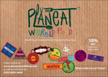 Order Online at www.planeatworldfood.com or call our kitchen on ...