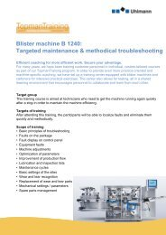 Blister machine B 1240: Targeted maintenance & Targeted ...