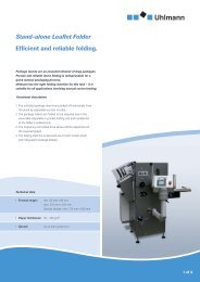 Efficient and reliable folding. Stand-alone Leaflet Folder