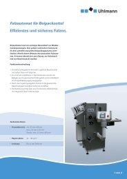 Falzautomat für Beipackzettel Effizientes und sicheres Falzen.