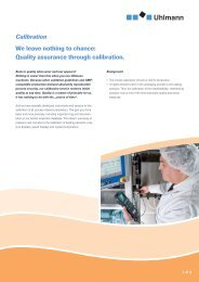 We leave nothing to chance: Quality assurance through calibration ...