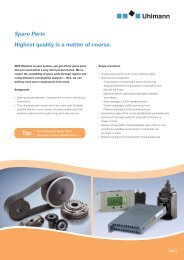 Highest quality is a matter of course. Spare Parts