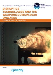 disruptive technologies and the weapons domain 2030 onwards