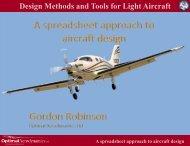 A Spreadsheet Approach to Light Aircraft Design