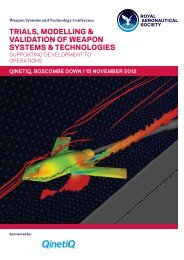 trials, modelling & validation of weapon systems & technologies