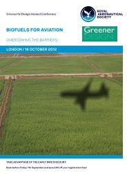 Programme - Royal Aeronautical Society