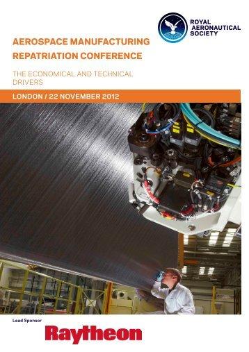 aerospace manufacturing repatriation conference - Royal ...
