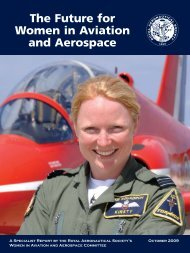 the future for women in aviation and aerospace - Royal Aeronautical ...