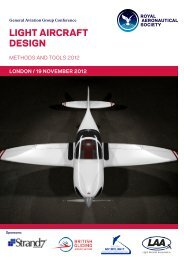 LIGHT AIRCRAFT DESIGN - Royal Aeronautical Society