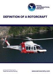 DEFINITION OF A ROTORCRAFT - Royal Aeronautical Society