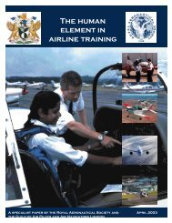 The human element in airline training - Royal Aeronautical Society