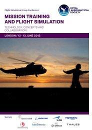 mission training and flight simulation - Royal Aeronautical Society