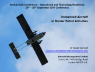 Unmanned Aircraft in Border Patrol Activities