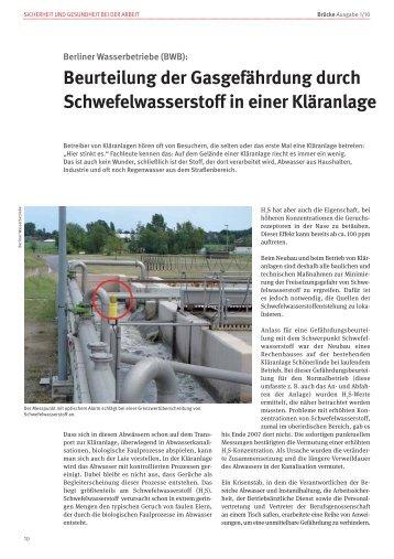Beurteilung der Gasgefährdung durch ... - BG ETEM B-EW