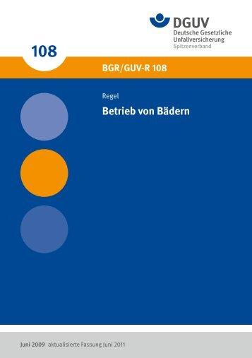 """""""Betrieb von Bädern"""" (BGR/GUV-R 108) - Deutsche Gesetzliche ..."""