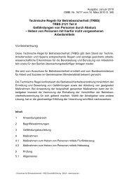 Technische Regeln für Betriebssicherheit (TRBS) TRBS 2121 Teil 4 ...