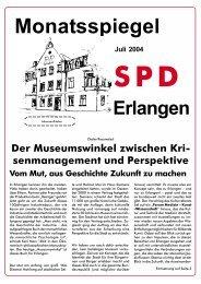 Ausgabe Juli 2004 - SPD Erlangen