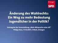 Änderung des Wahlrechts: Ein Weg zu mehr ... - SPD Erlangen