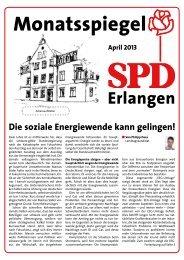 Ausgabe April 2013 - SPD Erlangen