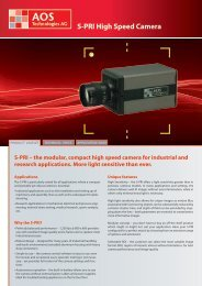 S-PRI High Speed Camera - AOS Technologies AG