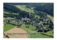Kerpen-Eifel/RP (PDF-Datei) - Unser Dorf hat Zukunft