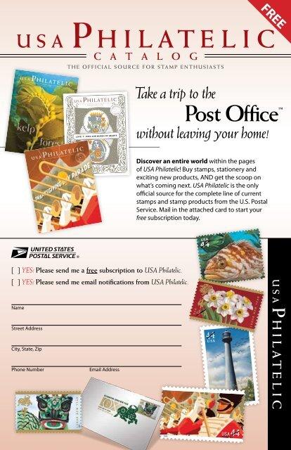 USA Philatelic Catalog Request Witih