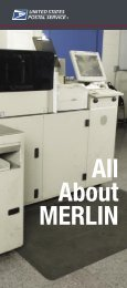 Publication 430 - All About MERLIN - USPS.com® - About