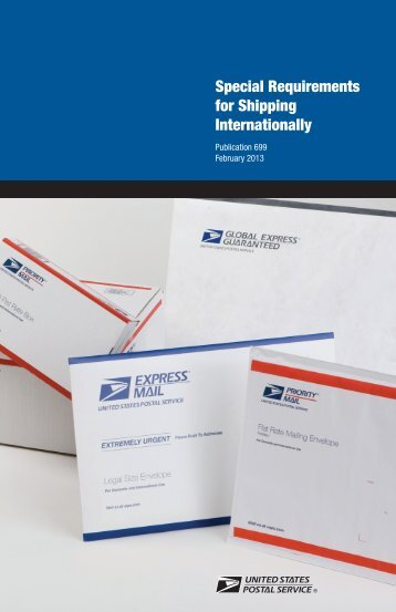 Publication 699 - USPS.com® - About