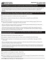 PS Form 1500 - USPS.com® - About