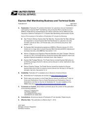 Express Mail Manifesting Business and Technical Guide - USPS.com