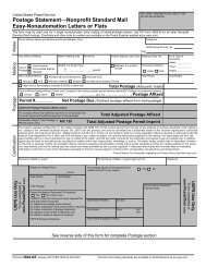 Postage Statement—Nonprofit Standard Mail Easy ... - USPS.com